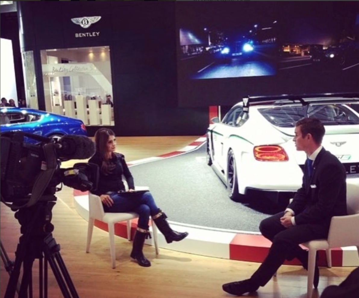 Miketta interview with Arab TV for Bentley-Motors